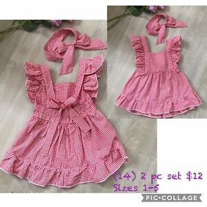 Vintage Kids Baby Girls Ruffle Dress Princess Holiday Xmas Dresses Sundress