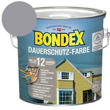 Bondex Dauerschutz-Farbe Granitgrau-Platinium Holzfarbe Holzschutz 2,5 Liter