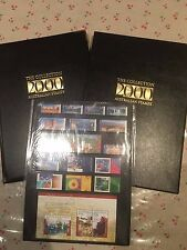 2000 Australian Post YearBook Album Stamps - Executive Leather Black Edition