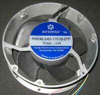 "Ventilation Axial 172mm Fan - 24 V - Low Current - 22 Watt - 250 CFM - 12"" Wires"