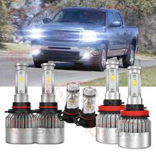 6pc LED Headlight Fog Light Combo White pkg for 2007-2013 GMC Sierra 1500 2500