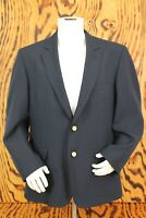 Orvis Mens Blazer Sport Coat Size 44R Wool Gold Button Navy Jacket