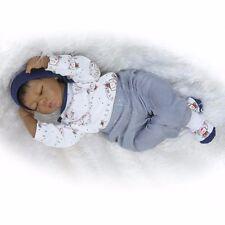 Handmade 20'' Reborn Baby Dolls Lifelike Newborn Doll Black African American