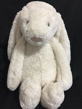 "Jellycat Bashful Cream White Bunny Plush Stuffed Animal Large 21"""