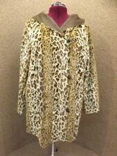 Adrienne Landau NEW Faux Leopard Fur & Faux Suede Reversible Hooded Jacket 2X
