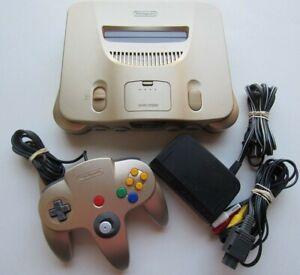 Nintendo 64 N64 Original Console Bundle w/ Controller Funtastic, Gold, pokemon