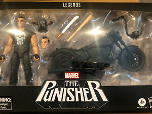 Marvel Legends Series 6-inch The Punisher with Motorcycle Nee Arrival Rare! New!