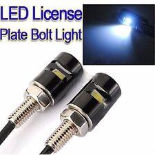 2pcs White LED SMD Motorcycle & Car License Plate Screw Bolt Light lamp bulb 12V