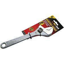 """8"""" ADJUSTABLE WRENCH SPANNER STRAIGHT JAW HARDENED STEEL 1 JAW CAPACITY 200MM UK"""