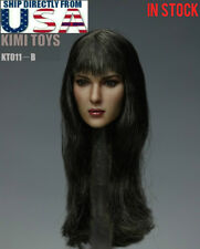 "1/6 Female Head Sculpt Long Hair B For 12"" Hot Toys Phicen Figure USA IN STOCK"