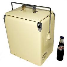 Rétro cool box plain crème cooler 17L vintage coolbox cadeau de mariage AAC079