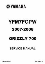 DIGITAL Yamaha 2007 2008 ATV Grizzly 700 700FI YFM repair shop service manual