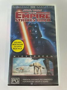 STAR WARS the empire strikes back VHS widescreen