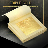 10x 24K Essbare Gold Folie Blatt Kochen Kunst Arbeit Vergoldung 4.33x4.33cm