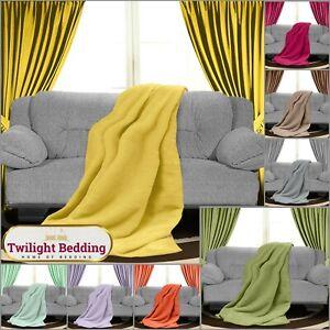 LUXURY FAUX FUR FLEECE THROW Over Sofa Bed Blanket Mink Soft Warm Double King