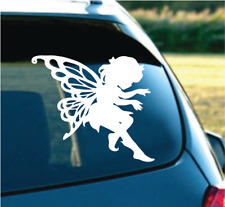 """Cute Butterfly Angel white 6"""" Decal Sticker for car SUV Truck"""