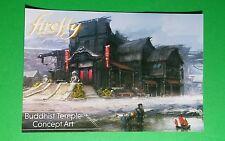FIREFLY ONLINE BUDDHIST TEMPLE CONCEPT ART OVE TV 4x6 MINI POSTER FLYER POSTCARD