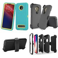 For Motorola Moto Z4 Play / G7 Play Case Cover Belt Clip Fit Otterbox Defender