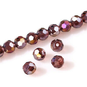 New 100Pc 4Mm Round Crystal Glass Beads Purple Spacer Bead For Bracelet Jewelry
