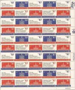 US Stamp - 1974 American Revolution Bicentennial 50 Stamp Sheet 1543-6