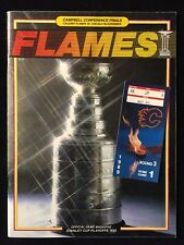 1988-89 CALGARY FLAMES PLAYOFF PROGRAM+ v CHICAGO BLACKHAWKS CONF FINAL RD 3 CUP