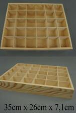 30 Compartment Organizer Storage Wooden Tray | Storage Box Container NO LID