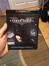 BATMAN BEGINS MOVIE 4K UHD + BLU RAY DISCS 2017