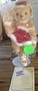 "Annette Funicello ""Let It Snow"" Ballerina Christmas Bear w/ COA & Tags No Box"