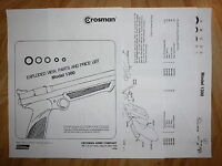 Crosman 1300 One (1) O-Ring Seal Kit + Exploded View + Parts List + Seal Guide