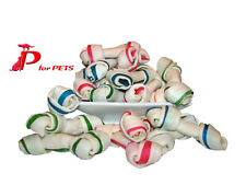 Rawhide Chew Dog / Puppy Chewing Treats - Knotted Bones 10/pack