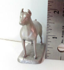 "Rawcliffe Doberman Pinscher Pewter Figurine 2"" Dog 1986 #842 P Davis"