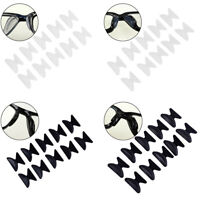 5Pair Glasses Eyeglass Sunglass Spectacl Anti-Slip Silicone Stick On Nose Pad.kn