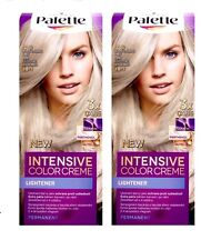 Schwarzkopf Palette Intensive Color Creme Silver Blond 2x C10 Permanent Hair Dye