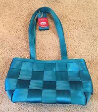 HARVEY'S SEATBELTBAG handbag Purse Turquoise Recycled Seat Belt