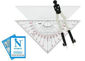 Navigationsset Navigationsbesteck Marinezirkel Kursdreieck NEU! NavigMax® 520S