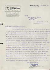 BERLIN S.W. 19, Brief 1934, Thega-Kontakt G.m.b.H.