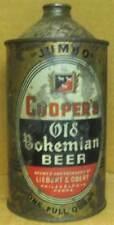 COOPER'S OLD BOHEMIAN BEER IRTP Quart Cone Top CAN Liebert & Obert, Phila PENNA.