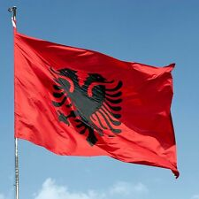 Albania Flag Double Headed Eagle OUTDOOR decor BANNER ALBANIAN Arms 3X5 feets