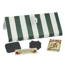 "Farm Stand Roof & Sign Set For Interchangeable Shop Fits 18"" American Girl Dolls"