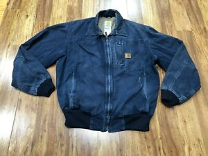 MENS MEDIUM - Vtg Carhartt J163 Sandstone Lined Jacket