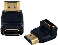 Adaptador HDMI macho a HDMI hembra ángulo conector adaptador de ángulo 90 grados 1080p