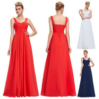 Maternity Long Chiffon Bridesmaid Dress Evening Cocktail Party Prom A-line Gowns