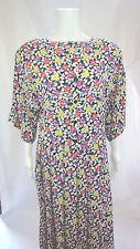 SONIA RYKIEL PARIS Multi-Color Silk Floral   Scoop Neck  Dress Sz EUR 38