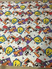 Vtg Looney Tunes Laughing Faces 78 X 69 Blanket Bugs Bunny Taz Tweety Sylvester