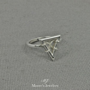 925 Sterling Silver Eternal Triangle Ring