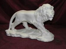 Ceramic Bisque Lion on a Rock base U-Paint Ready to Paint Cat Unpainted