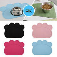 Silicone Non-Spill Cute Pet Feeding Food Mat Water Dish Bowl Placemat Place Use