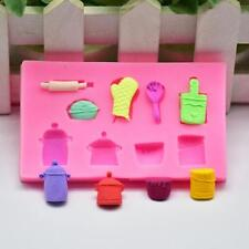 Silicone Cake Mold 3D Pot Glove Shape Fondant Sugarcraft Icing Decor DIY Tools B