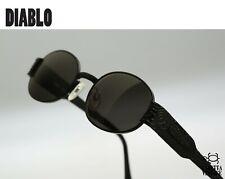 Diablo D60 028-L455 Vintage 90s steampunk black oval sunglasses men & women, NOS