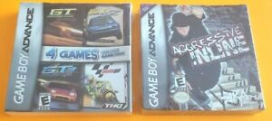 2 Brand New Gameboy Advance Games Lot ~ GT RACING 4 Pack & AGRESSIVE INLINE